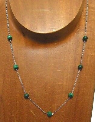 Sterling Silver Gemstone Beaded Necklace...Handmade USA...**NAME YOUR STONE**