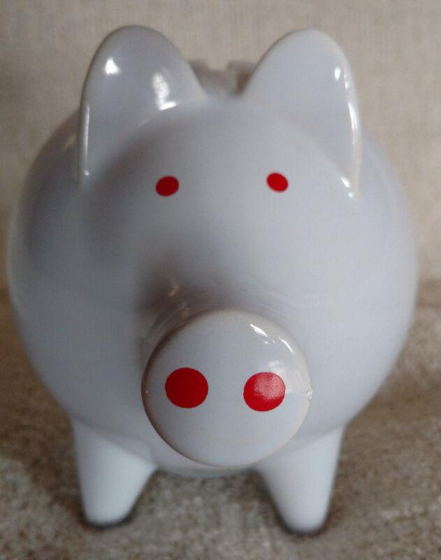 Waechtersbach Western Germany Pig With Zipper Coin Piggy Bank Clean!