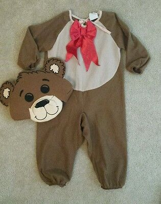 Toddler Child Lil' Teddy Bear Costume size 1-2 - Toddler Bear Costume
