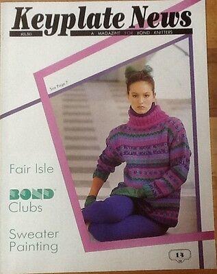 Machine Keyplate News # 14 Bond / USM / Ultimate Sweater knitting Pattern Book