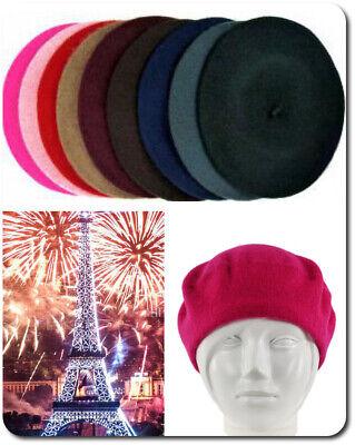 eret  Französische Mütze  Wollmütze Wolle Kaninchenwolle  (Baskenmütze Französische Mütze)