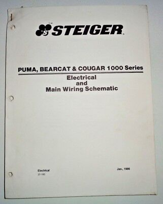 Steiger Puma Bearcat Cougar 1000 Series Tractor Main Wiring Schematics Manual