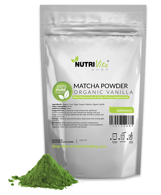 2500g (5.5lbs) Vanilla Matcha Green Tea Powder USDA Organic Japanese nonGMO