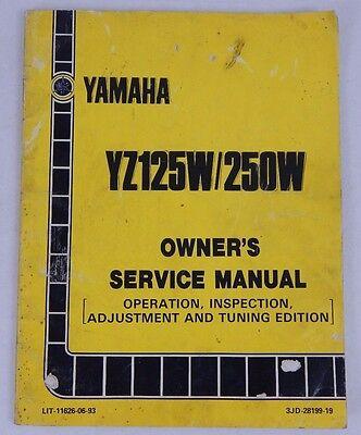 1988 YAMAHA YZ125 250 W MOTORCYCLE OEM Factory OWNERS SERVICE REPAIR MANUAL Book