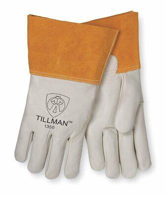 Tillman 1350l Top Grain Gray Leather Premium Grade Tig Welders Gloves Large
