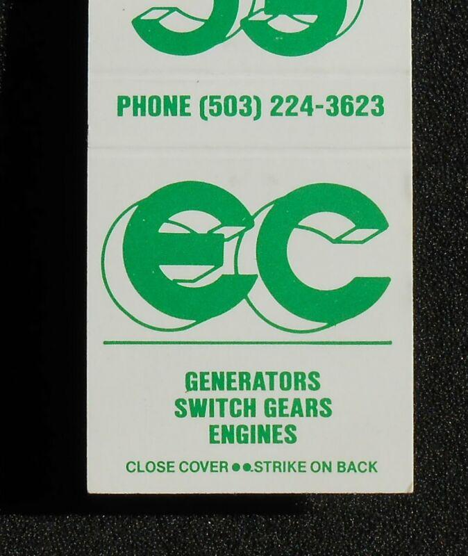 1980s?  E. C. Distributing Company Generators Switch Gears Portland OR Multnomah