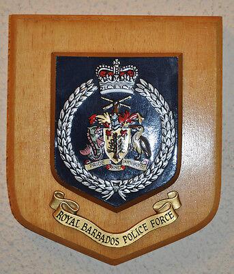 Royal Barbados Police plaque crest shield Constabulary