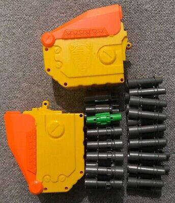 Lot Of 2 Ammo Belt Box Nerf Dart Gun Vulcan Hasbro Cartridge
