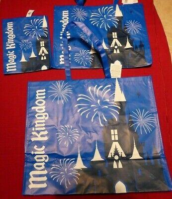 New Disney World Magic Kingdom Reusable Shopping Bags - Small Medium & Large