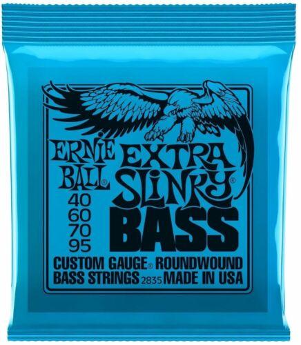 **ERNIE BALL EXTRA SLINKY 40-95 ELECTRIC BASS GUITAR STRINGS 2835 (4-STRING)**