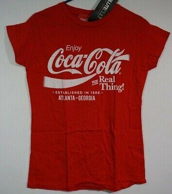 Enjoy Coca-Cola The Real Thing Atlanta Georgia Women's Large Coke T-Shirt NWT