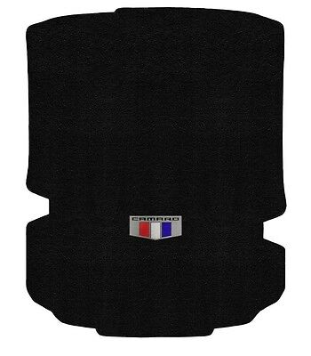 (NEW! BLACK Trunk MAT 2016-2017 Camaro Embroidered Crest Logo Coupe Cars Only)