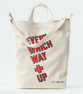 New LAWRENCE WEINER Art Baggu Duck Bag Natural Canvas Companion Tote for sale  Rockville