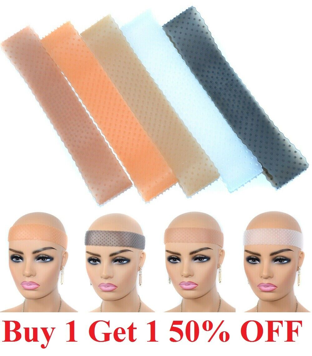 Wig Grip Adjustable HeadBand silicone Elastic Comfort Fastern Wig Band Hair Care & Styling