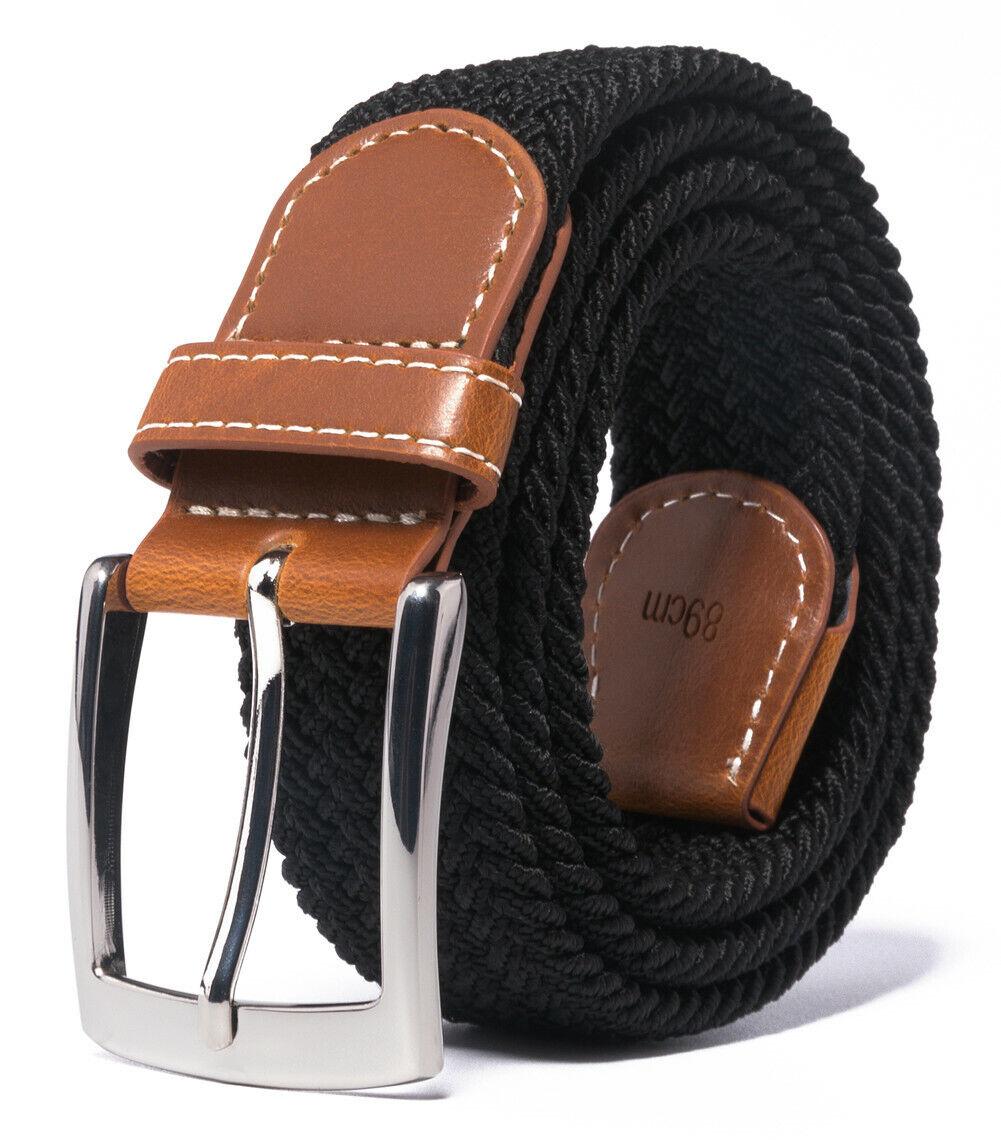 Braided Canvas Woven Elastic Stretch Belts for Men/Women/Junior Belts