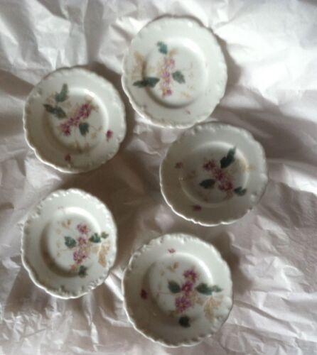 5 Antique Butter Pat pink / rose aster t & v france
