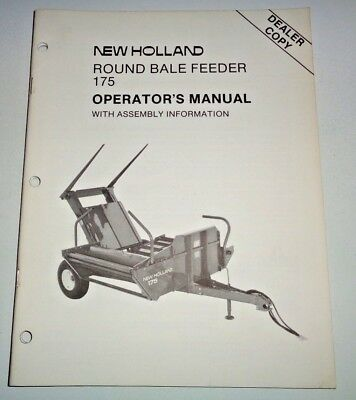 New Holland 175 Round Bale Feeder Operators Owners Manual 887 Original