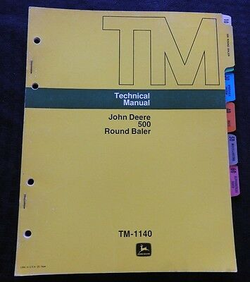 1975 John Deere 500 Round Baler Technical Service Repair Manual Nice
