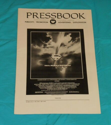 original  SUPERMAN THE MOVIE PRESSBOOK