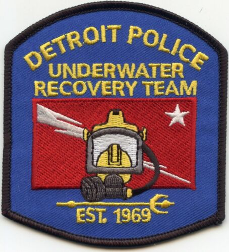 DETROIT MICHIGAN MI UNDERWATER RECOVERY DIVE DIVER POLICE PATCH