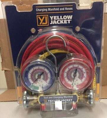 Yellow Jacket Series 41 Manifold 2v W3-18 Gauges R32r410a 42024
