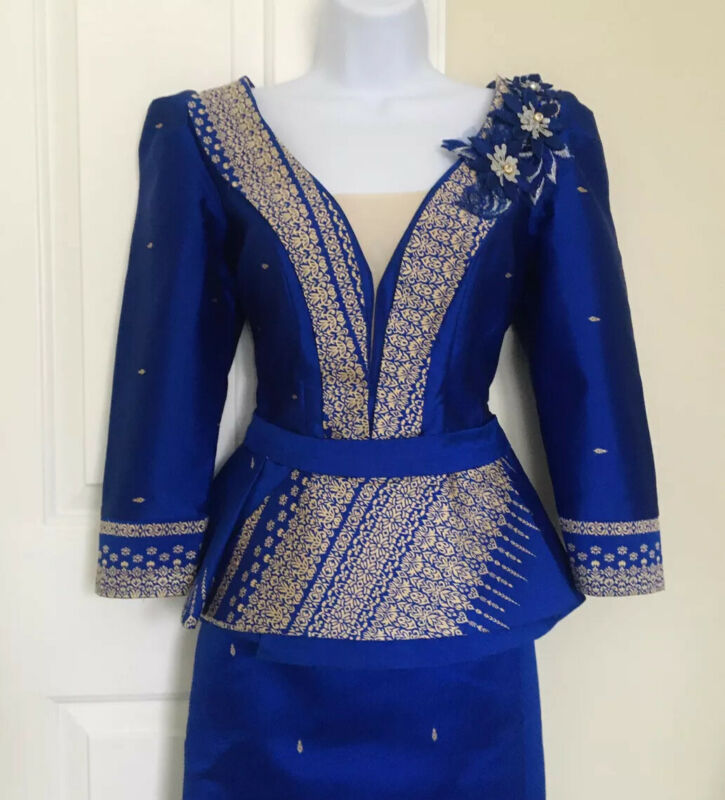 Khmer Traditional Outfit / Cambodian Clothes - 2 Pieces, Khmer Shirt & Skirt