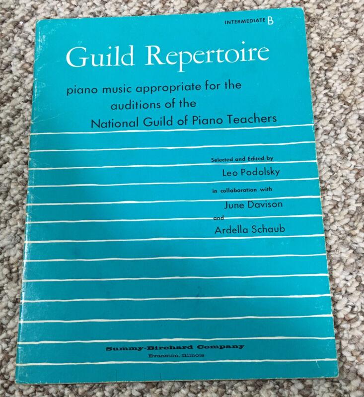Guild Repertoire Piano, Intermediate B songbook Leo Podolsky June Davison