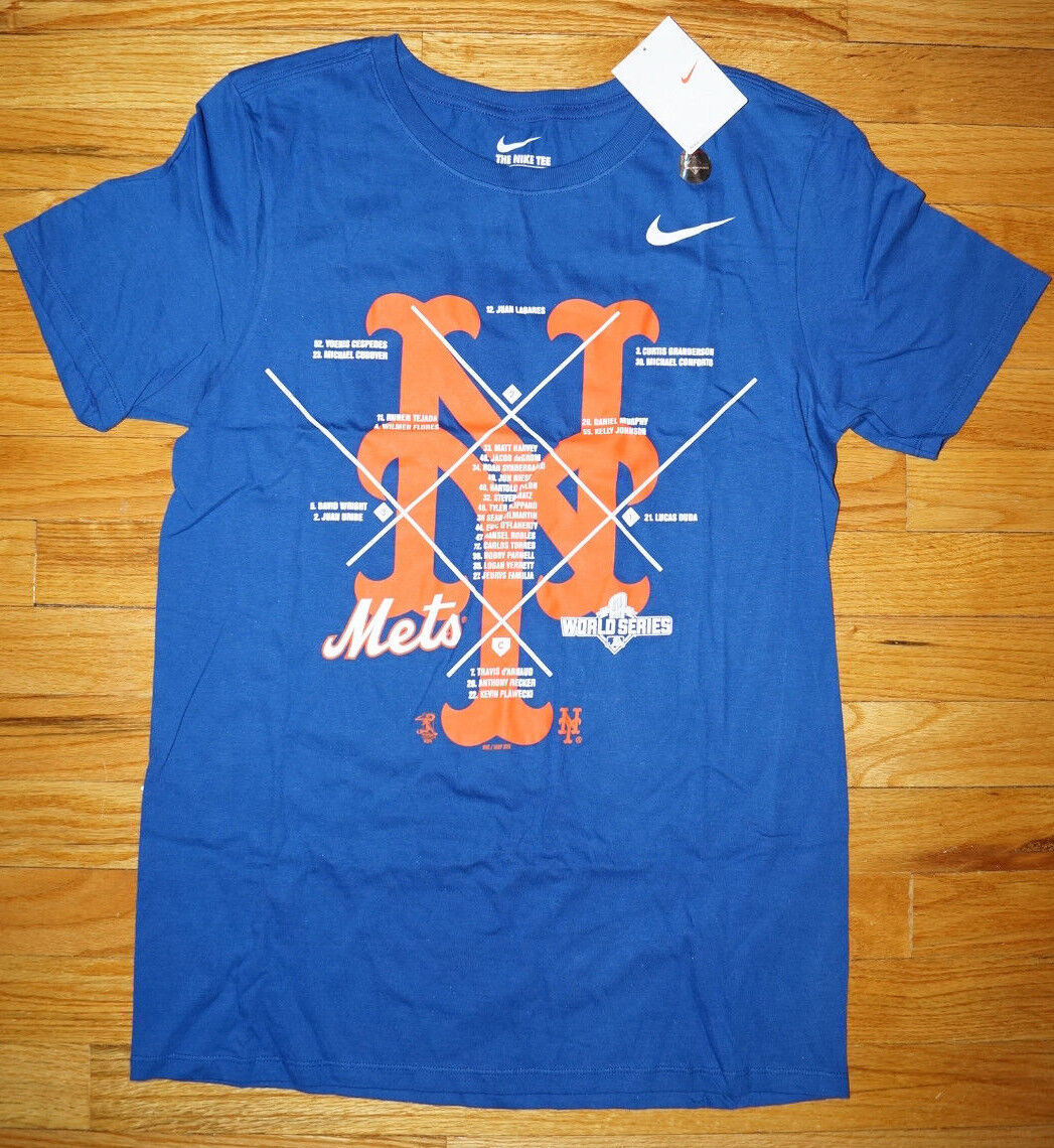 Nike Herren NEW YORK METS BASEBALL World Series T-shirt XL extra large Blau Logo