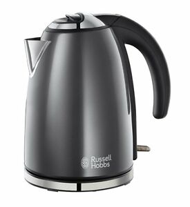 Russell-Hobbs-Grey-Electric-Kettle-Stainless-Steel-1-7-L-Brand-New