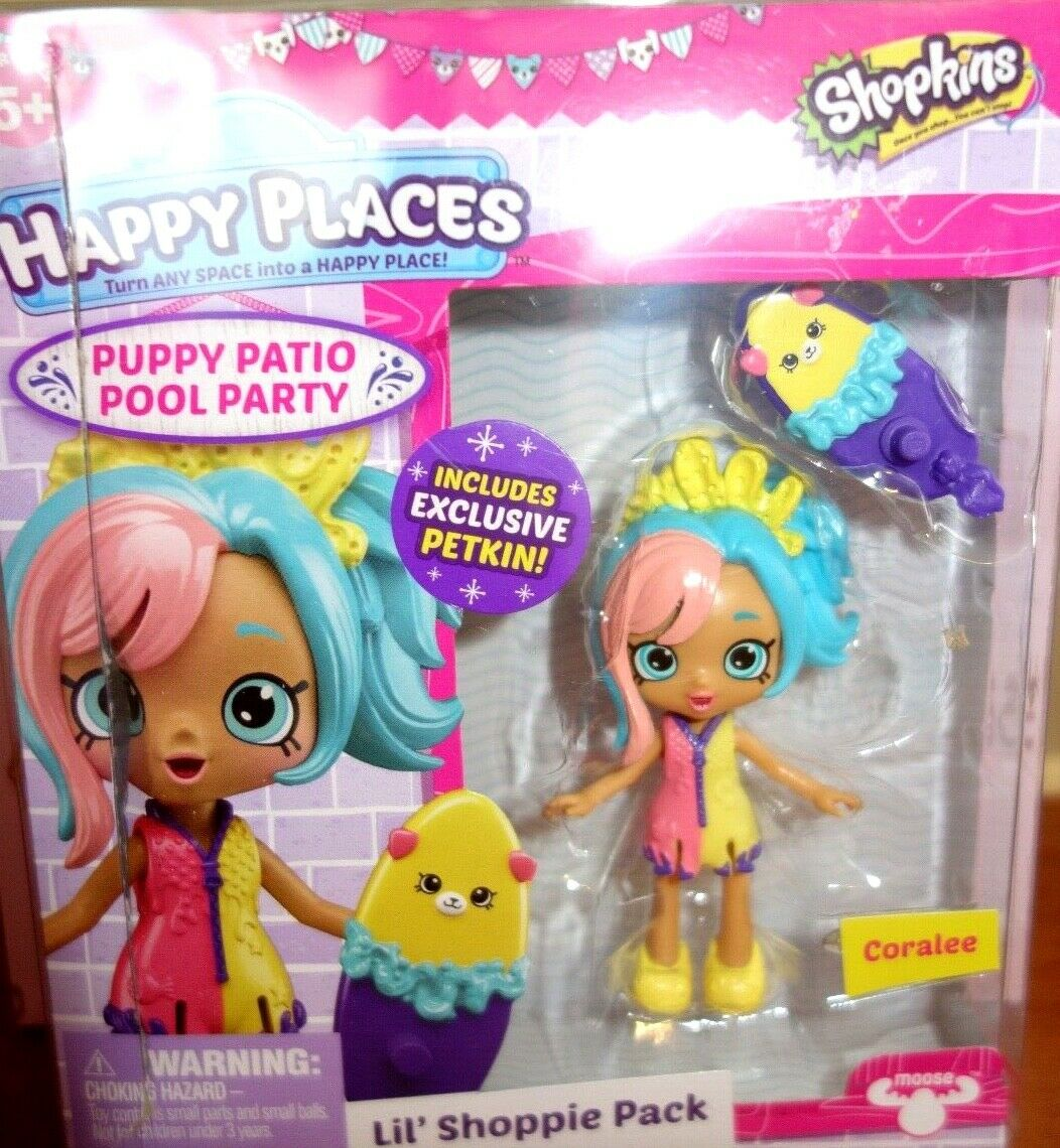Shopkins Happy Places Lil Shoppie Pack Coralee Mini Doll