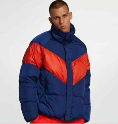 New Nike Sportswear Down Fill Jacket Blue Red Men's 928893-478 Multiple Sizes