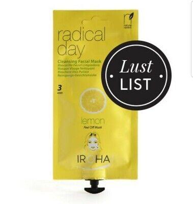 Iroha Nature Radical Day Cleansing Facial Mask Lemon (3 Uses)
