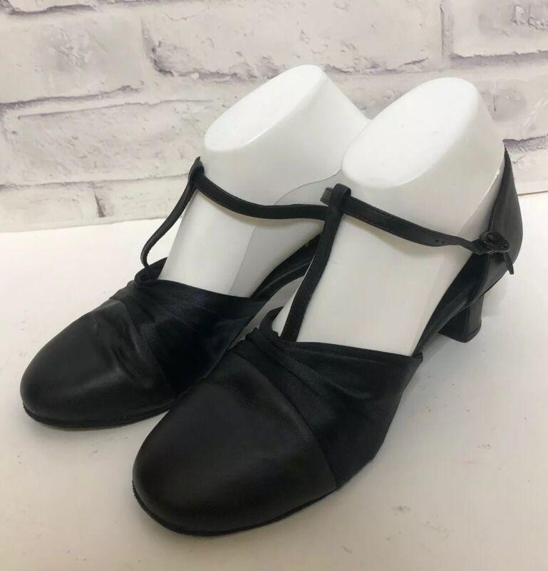 Capezio Black Ball Room Dancing Shoes Sz 9M Style 562
