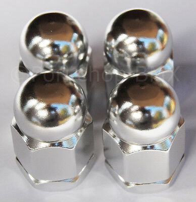 Acorn Axle Nuts (Old school BMX style bicycle acorn axle nuts 3/8
