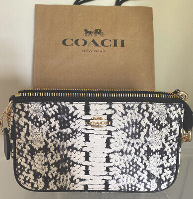 Coach Snake Skin Bag New With Gold Chain Strap