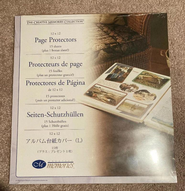 NIP CREATIVE MEMORIES 12 X 12 PAGE PROTECTORS OLD STYLE  15 sheets plus 1 bonus