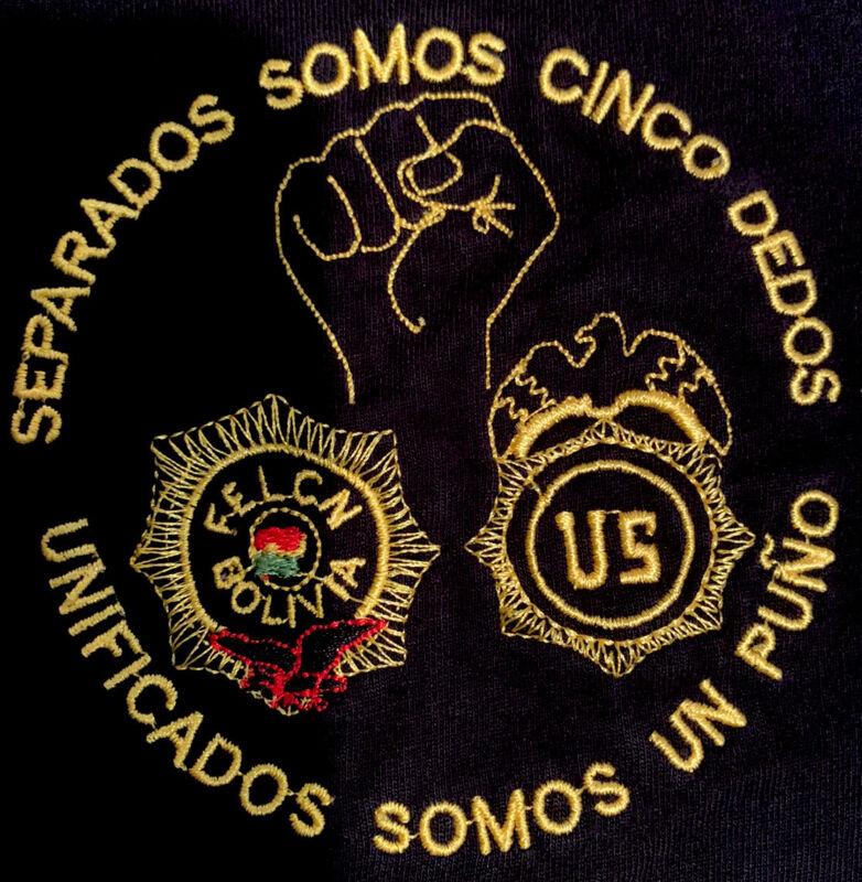 DEA Drug Enforcement Administration Felcan Bolivia Task Force T-Shirt St Sz XL