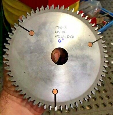 6 Carbide 60 Tooth C15 27245-04 Saw Blade Milling Cutter From Vinyl Window Mfg