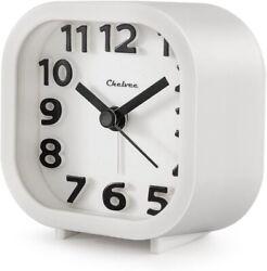 "Alarm Clock, Chelvee 2"" Quartz Analog Travel Alarm Clock with Night Light,"