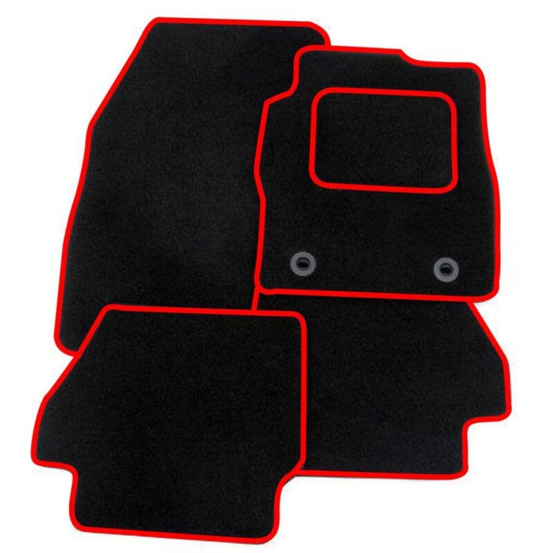 LEXUS GS250 GS300 2013 ONWARDS TAILORED BLACK CAR MATS WITH RED TRIM