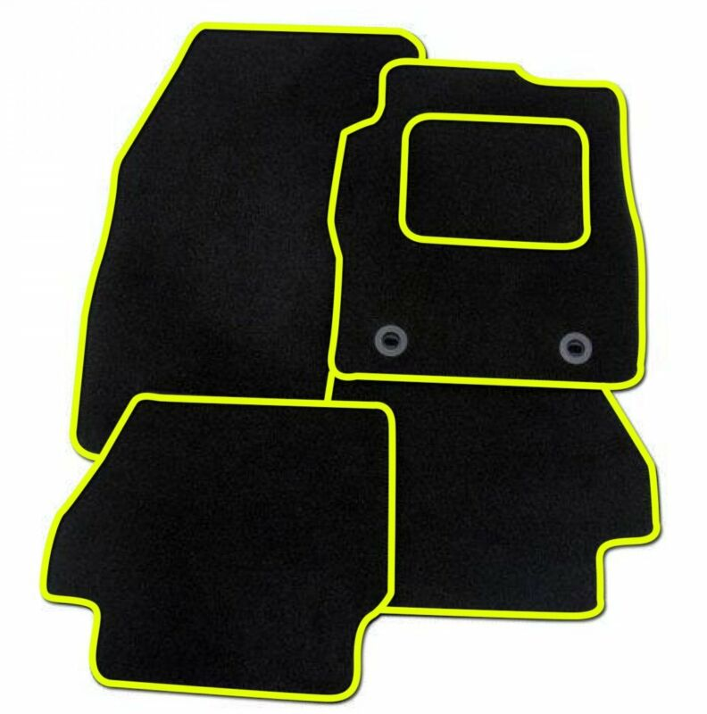 LEXUS LS430 2000-2006 TAILORED BLACK CAR MATS WITH YELLOW TRIM