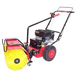 3in1 Kombi Kehrmaschine Schneefräse 5,5PS Benzin Motorbesen Schneeschieber Besen