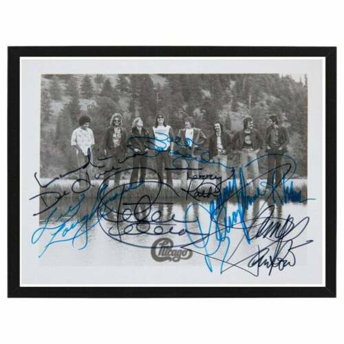 FRAMED Chicago Band Fully Signed By Original Members Vintage Photo Print