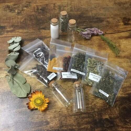 Set Of 20 Random Assorted Herbs Wicca Witchcraft Spells Metaphysical Supplies
