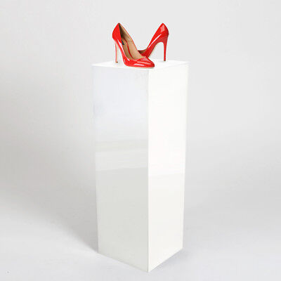 Large Product Display Plinth - Pedestals 1000mm High | Gloss White  | Made in UK