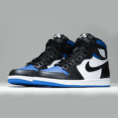 Nike Air Jordan 1 Retro High OG GS Game Royal Toe Blue Black AJ1 Kids 575441-041
