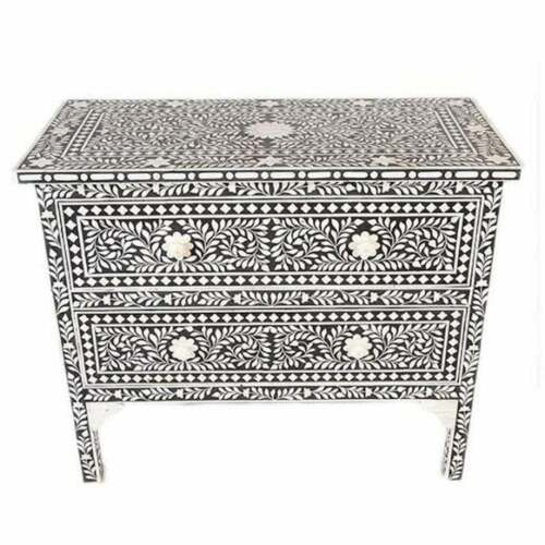 Handmade Bone Inlay 2 Chest Of Drawers Beautifully Crafted Floral Design Home De