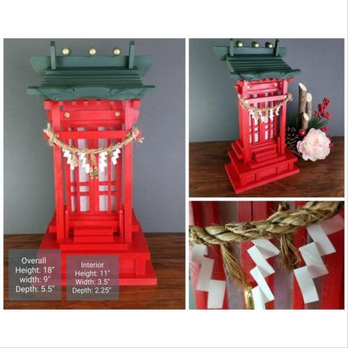 Shinto Kamidana with shoji doors. Inari Ofuda shrine