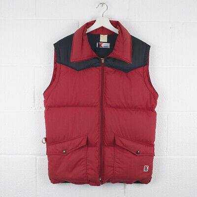 Vintage K-WAY Red Puffer Gilet Jacket Size Mens Large /R43019