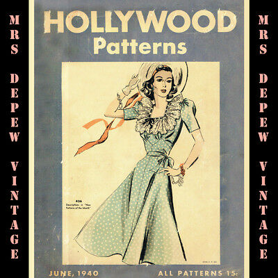 1940s Vintage Sewing Pattern Counter Catalog Hollywood 1940 Copy on CD
